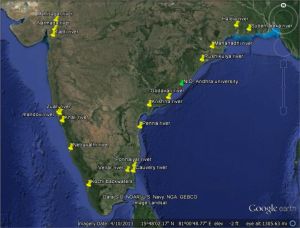 field trip India map